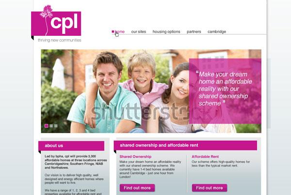 cpl homes web design