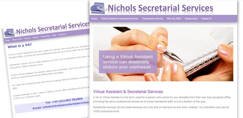 nichols-secretarial-services-website revamp