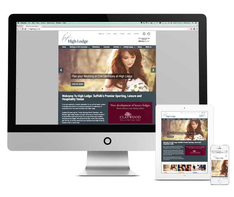 High Lodge Leisure website