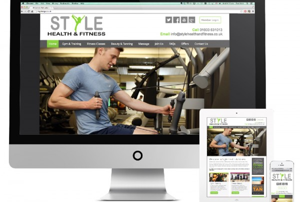 Style Health & Fitness website design