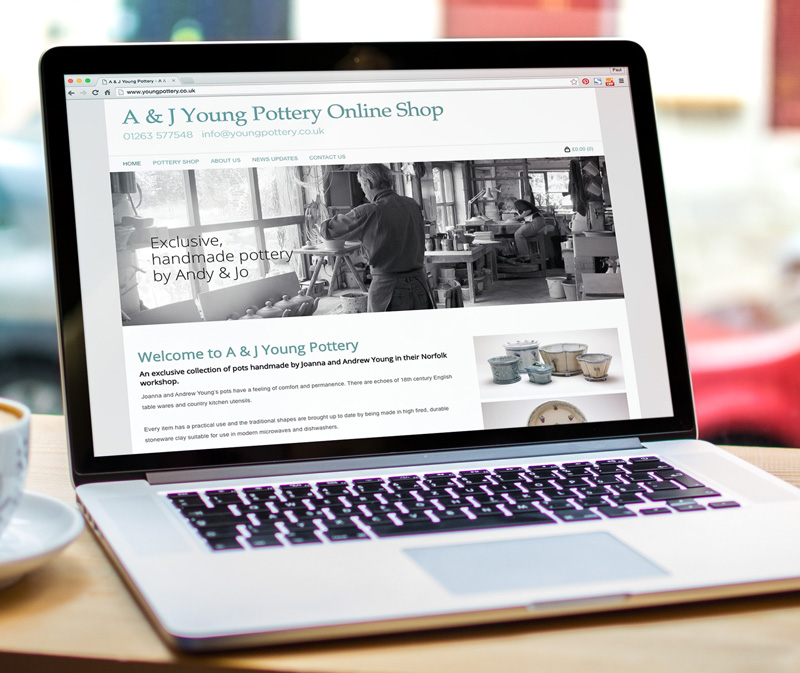 young pottery website design - Paul Kirk Design