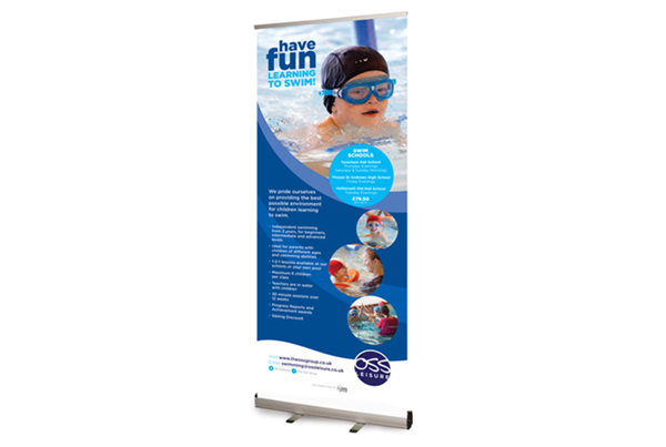 OSS Leisure Swim Schools Pop-up Banner Designs