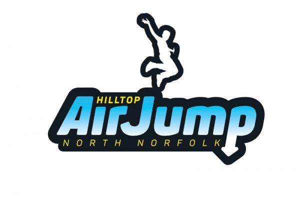 Hilltop Outdoor Centre Airjump logo - Paul Kirk Design