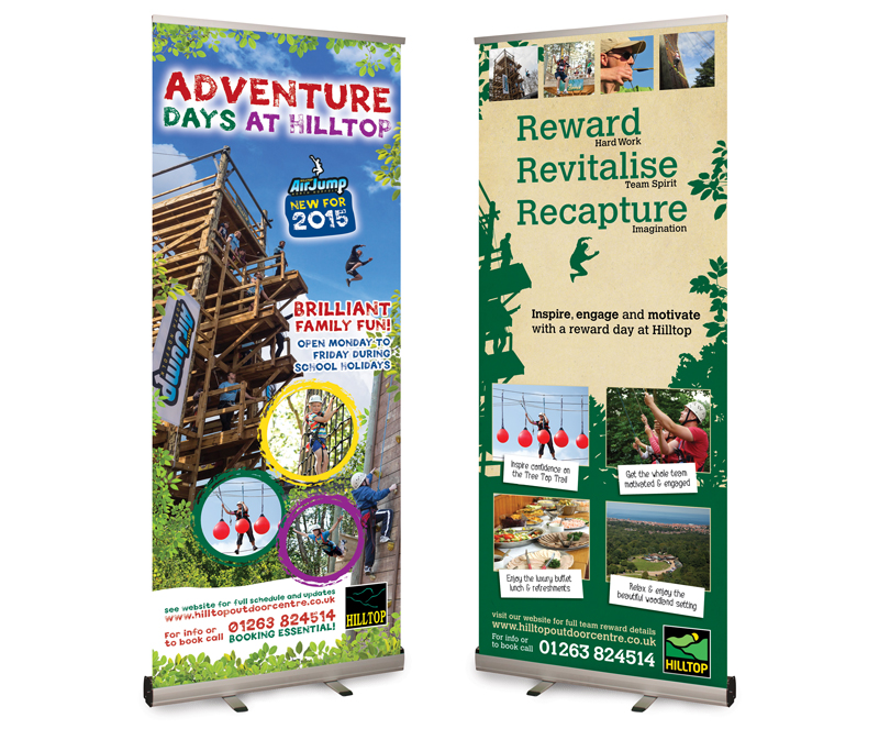 Hilltop Outdoor Centre Pop-up Banner designs - Paul Kirk Design
