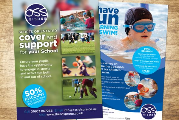 OSS Leisure leaflet designs