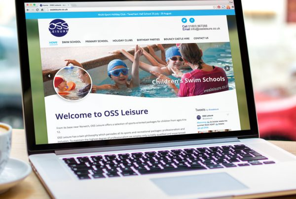 OSS Leisure website design and build - Paul Kirk Design