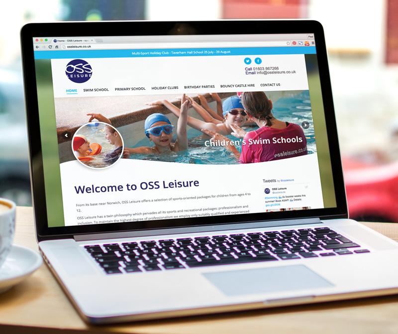 OSS Leisure website design and build - Paul Kirk Design