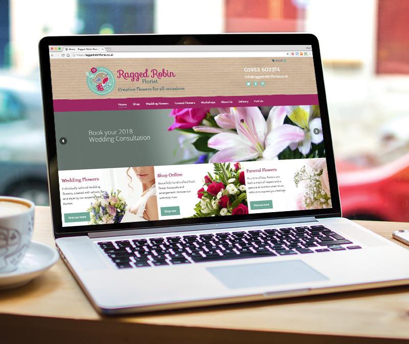 Ragged Robin website design - Paul Kirk Design
