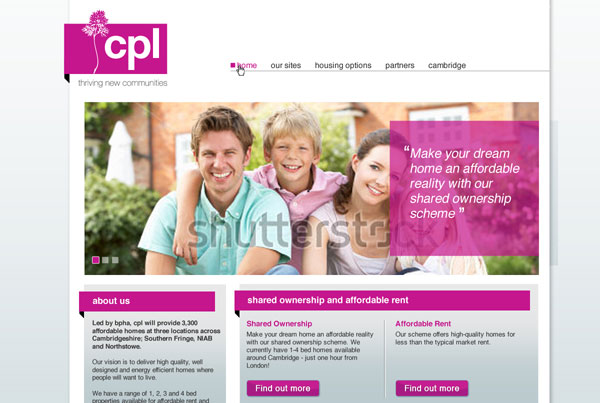 cpl homes web design