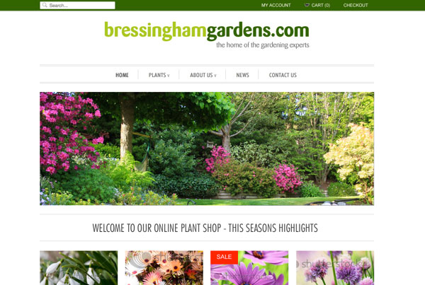 Bressingham Gardens web design