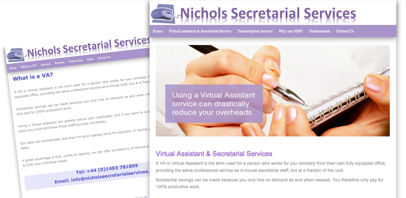 nichols-secretarial-services-website revamp