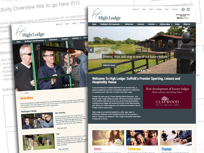 High Lodge Leisure website