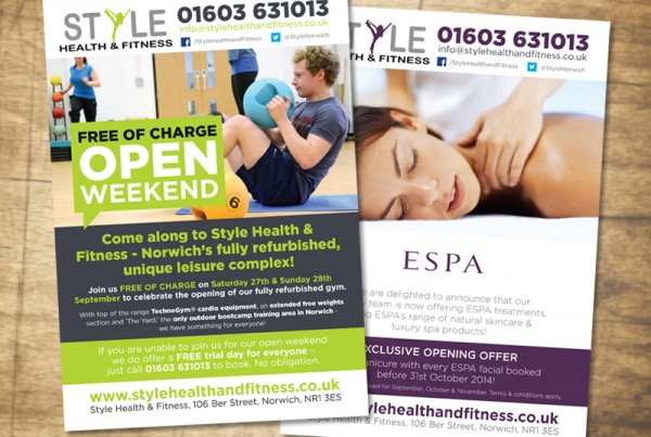 Paul Kirk - Style HEalth & Fitness Open Weekend '14 flyer design