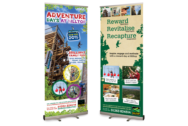 Hilltop Pop-up Banner designs