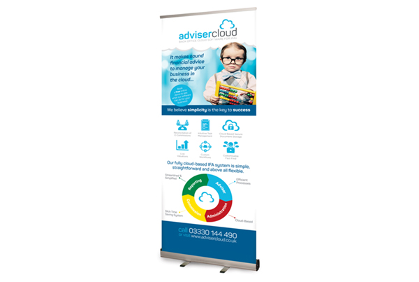 Adviser Cloud Pop-up Banner Design