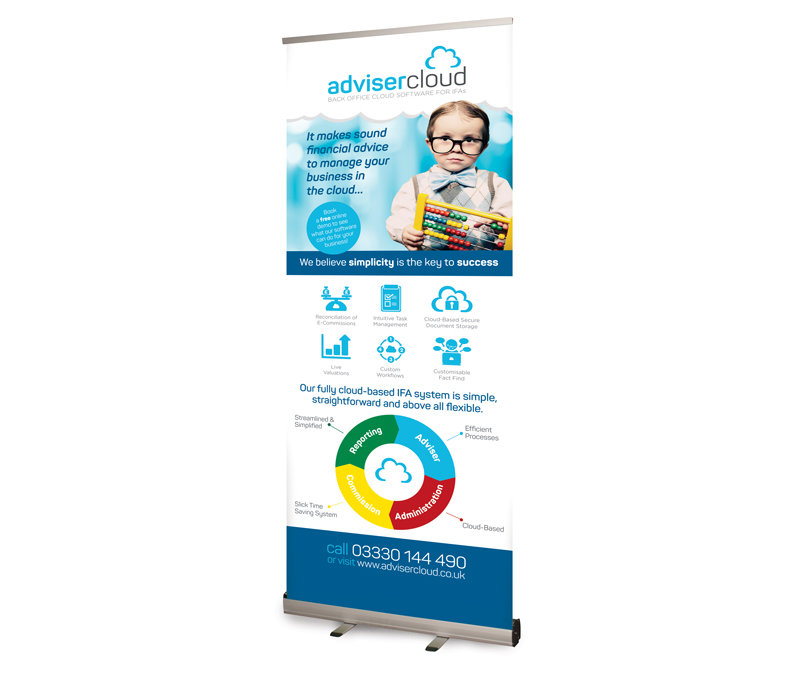 Adviser Cloud Pop-up Banner design - Paul Kirk Design