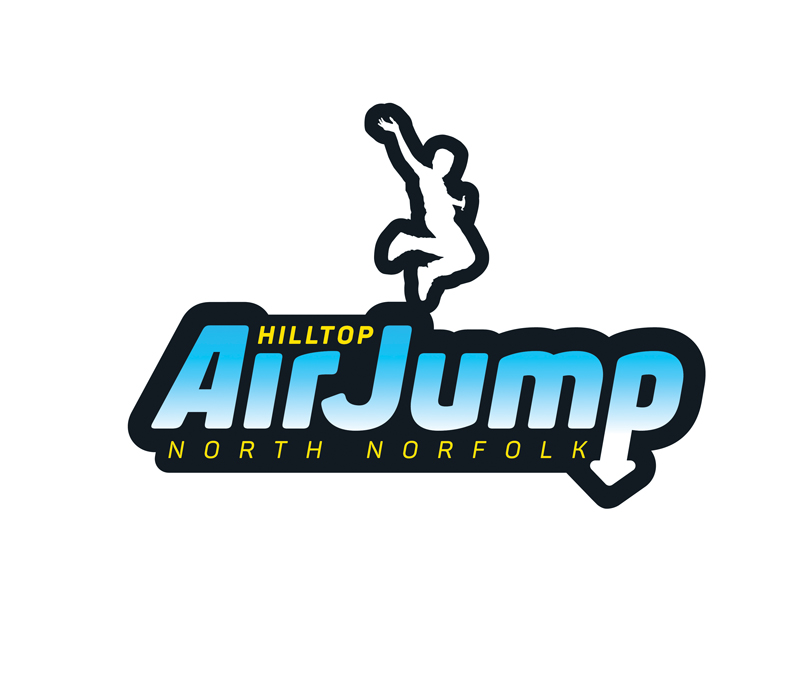 Hilltop Outdoor Centre Airjump logo - Paul Kirk Design