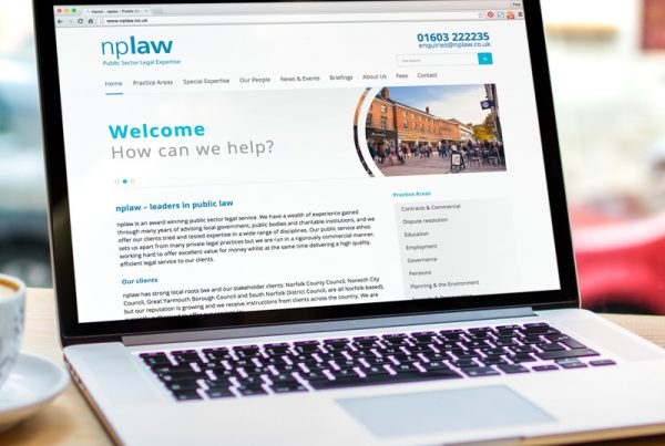 nplaw website design & build - Paul Kirk Design
