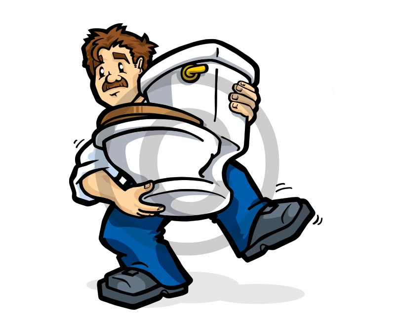 Paul Kirk Design - Broadland Toilet Hire Character illustration