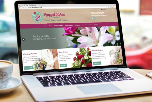 Ragged Robin website design - Paul Kirk Design