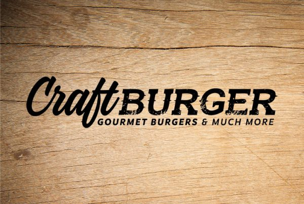 Craft Burger gourmet burgers logo - Paul Kirk Design