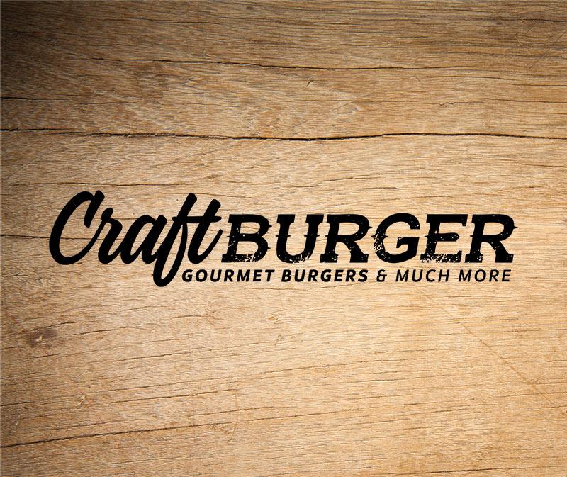 Craft Burger gourmet burgers logo - Paul Kirk Design