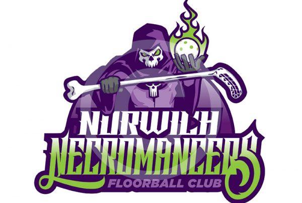 Norwich Necromancers Logo - Paul kirk Design
