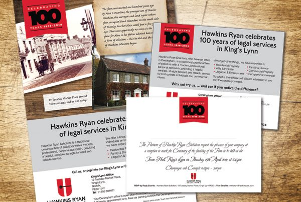 Paul Kirk Design - Hawkins Ryan Solicitors Centenary logo design