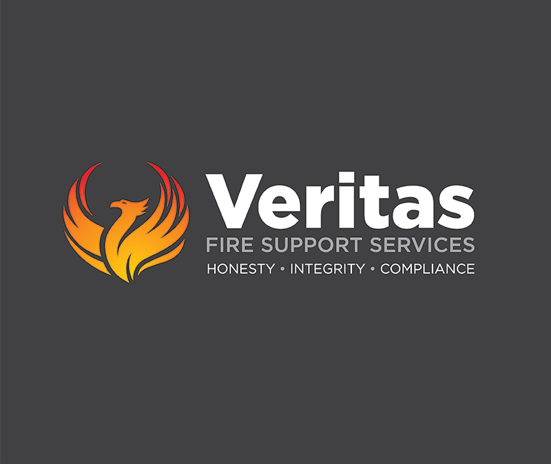 Paul Kirk Design - Veritas fire Support services logo design