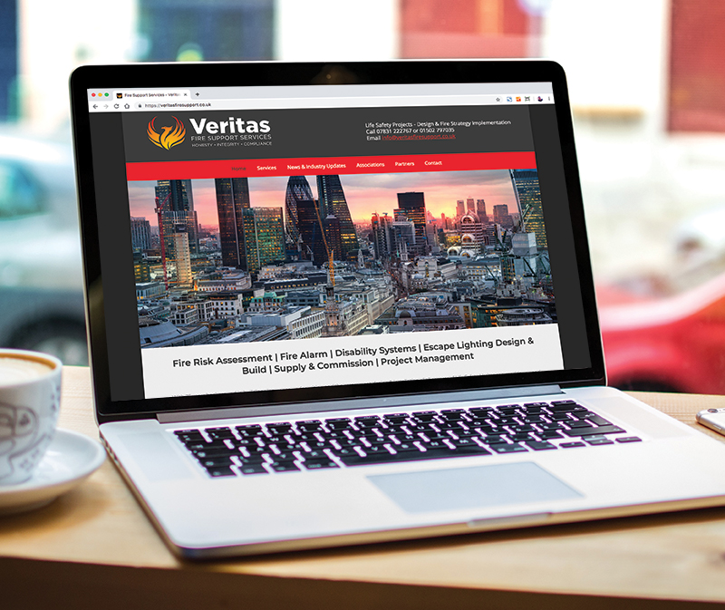 Paul Kirk Design - Veritas Fire Support Services website design & build