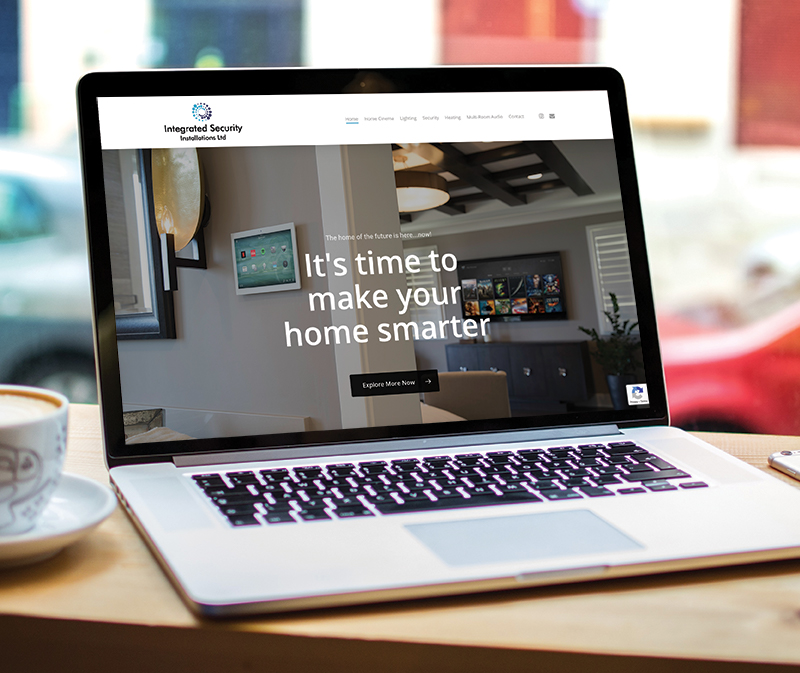 Smart Home automation website design - Paul Kirk Design